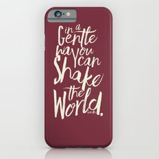 Kindness Quote by Gandhi  on Satyagraha (red version) iPhone 6s Slim Case