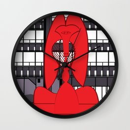 Chicago's Picasso Sculpture  Wall Clock