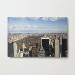 Top of the Rock view of Central Park in NYC Metal Print