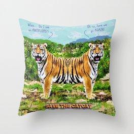 Save the Catcats Throw Pillow