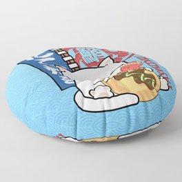 Chubby Cat Takoyaki Octopus Balls  Floor Pillow