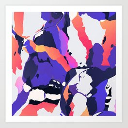 The purple color is turning peachy Art Print