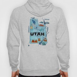 UTAH map Hoody