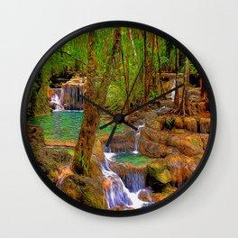 Oregon Falls Wall Clock
