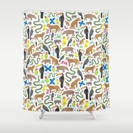 Jungle/Exotic Animals Shower Curtain