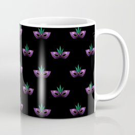 Mardi Gras Mask Purple Green Gold Sparkles Coffee Mug