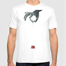 Personal Dictionary: rain White MEDIUM Mens Fitted Tee