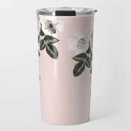Bees + Blackberries on Pale Pink Travel Mug