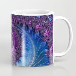 Feathery Flow - Fractal Art Coffee Mug