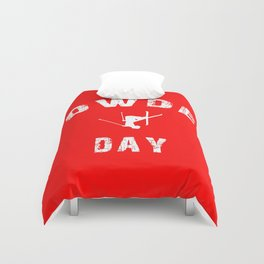 Powder Day Red Duvet Cover
