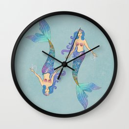queen mermaid Wall Clock