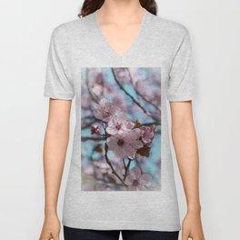 Sakura.Cherry Blossom Unisex V-Neck