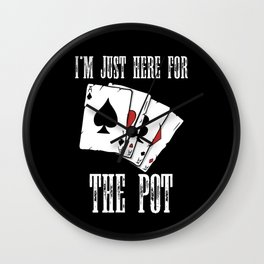cool poker player t-shirt for poker fans Wall Clock