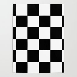 Checkerboard (LF) - (Collection Black & White) Poster