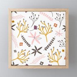 Fall Floral Patten Framed Mini Art Print
