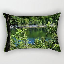 Forest and Lake Rectangular Pillow