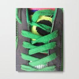 Green shoe laces Metal Print