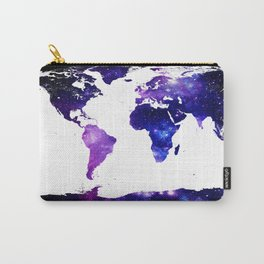 world map. (Blue Purple Galaxy) Carry-All Pouch