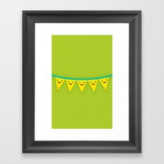 Party Banner Framed Art Print