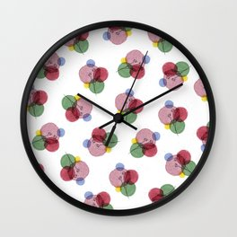 Bubble Flowers Wall Clock