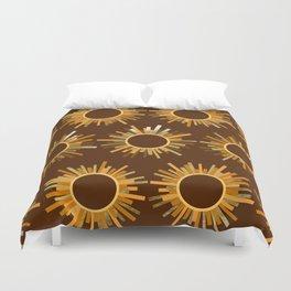 Art Deco Starburst in Brown Duvet Cover