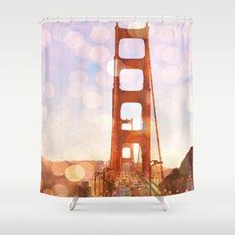 GOLDEN GATE BRIDGE - ABSTRACT Shower Curtain