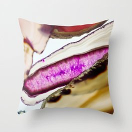 Agates, Slices of Earth Throw Pillow