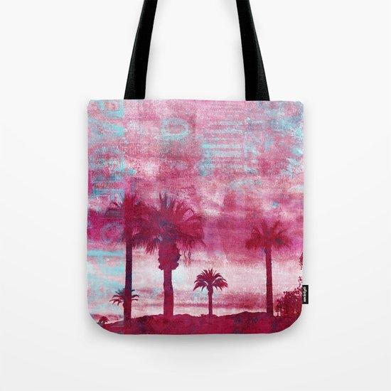 Pacific Island Grunge Look Mixed Media Art Tote Bag