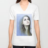 matty healy V-neck T-shirts featuring Self by milyKnight