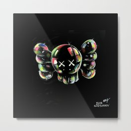 Soap bubbles  4 KAWS Metal Print