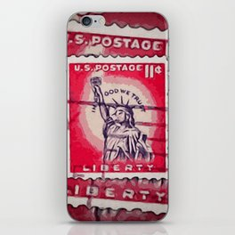 Stamp of Liberty iPhone Skin