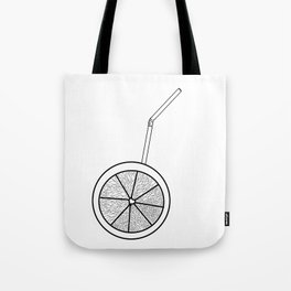 orange cocktail with a straw . cocktail Tote Bag