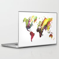 new order Laptop & iPad Skins featuring World Map new order by jbjart