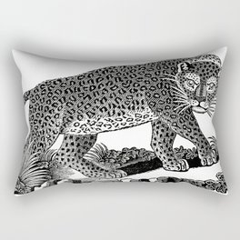 Majestic Leopard Hunts in the Night Rectangular Pillow