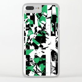 Shattered Box T1 - Green version Clear iPhone Case