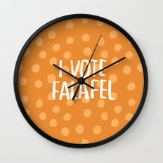 I Vote Falafel Wall Clock