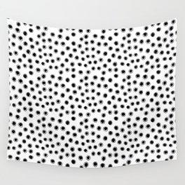 black dots Wall Tapestry