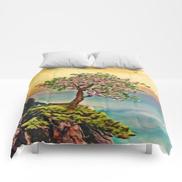 The Loneliest Tree On Mount Huangshan   Painting Comforters