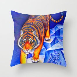 Chinese Zodiac Year of the Tiger Throw Pillow