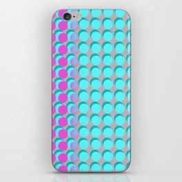Pink & Aqua Spots on Taupe iPhone Skin