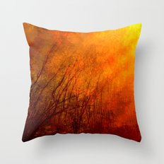 The burning world Throw Pillow