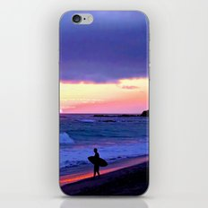 Sunset Skimboarder iPhone & iPod Skin