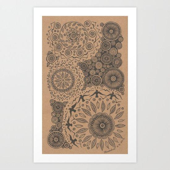 Flock II Art Print