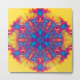 Vibrant thistle mandala Metal Print