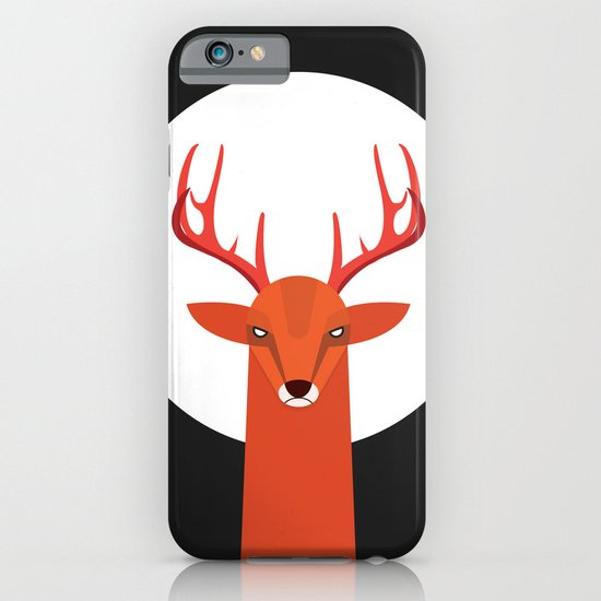Deer and Moon iPhone & iPod Case