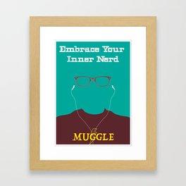 Embrace your Inner Nerd Framed Art Print