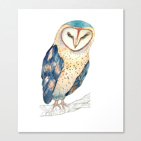 The colourful barn owl Canvas Print