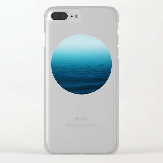 Deep Blue Sea Clear iPhone Case