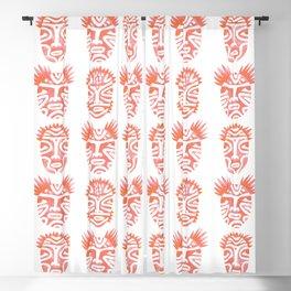 Pink Ritual Faces Blackout Curtain