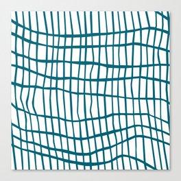 Net Blue on White Canvas Print